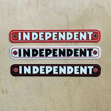 Independent trucks cross vinyl sticker skateboard Indy strip script