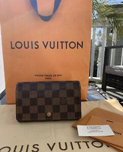 Louis Vuitton Porte Monnaie Billets Tresor Damier Ebene Bifold Compact Wallet