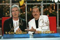Foto autografata Tullio Solenghi Massimo Lopez Signed Autografo ITP Trio Cinema