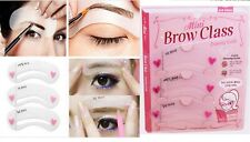 2 x 3 Eyebrow Stencils Grooming Shaper Kit Brow Template Makeup Reusable Tools