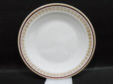 "Bristile Side Plate vgc (6 1/2"") maroon band & gold scrolls pattern"