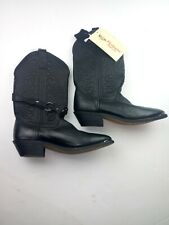 NWT Masterson Black Leather Upper Western Cowboy Boots Womens Size 7M MSRP $179