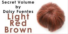 Secret Volume Hairpiece Topper Daisy Fuentes Wig Beauty Glamour Light Red Brown