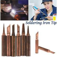 900M-T Pure Copper Soldering Tip Bits Solder Electric Iron Head For 936