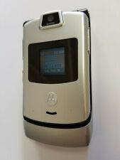 Motorola RAZR V3m Gray Verizon Flip Cellular Phone V3 Page Plus Flipphone CDMA