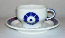 SARGADELOS ~ Cobalt Blue & White Porcelain 10 Oz CUP & SAUCER (Coroa)