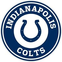 "Indianapolis Colts NFL Color Vinyl Decal Sticker - You Choose Size 2""-28"""