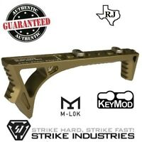Strike Industries LINK Curved Angled Fore Grip FDE Fits KeyMod & M-LOK Tan Link