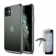 Funda para iPhone 11 (6.1) + CRISTAL TEMPLADO Opcional Gel TPU 100% Transparente