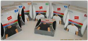 Hanes Men's Premium Stretch Tagless CREW NECK tee Shirts fresh IQ BLACK --WHITE