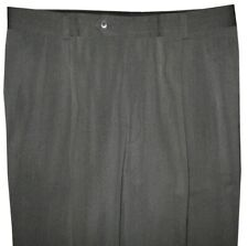 MINT PREOWNED HUGO BOSS BLACK LABEL GREEN-GRAY & BLACK TWILL MENS DRESS PANTS 36