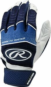 Rawlings Workhorse 950 Series Youth Batting Gloves Blue Large