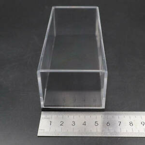 Acrylic Case Display Box Show Transparent Dust Proof with Base 1:64 Model 12cm