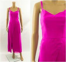 V Label London Pink Wrap Skirt Leg Slit Occasion Party Dress