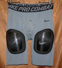 Nike Pro Combat Hyperstrong carbon plate football shorts gray 2XL 584392 NWT