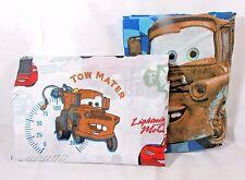 Disney Pixar Cars Toddler Crib Flat Sheet Fire Dept Racing & Pillow Case