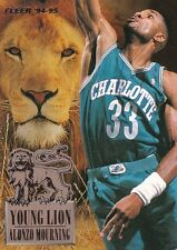 1994-95 Fleer Young Lions Insert NBA Trading Card #4 Alonzo Mourning Charlotte