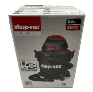 Shop Vac Wet/Dry vacuum 5Gal 3.5 Peak Hp with filters and accessories, 1 1/4""
