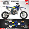 Motocross Graphics MX Stickers Decal Kit for TC 65 2016 2017 2018 2019 2020 Blue