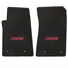 Chevy Camaro Ebony Carpet Front floor Mats W/Red SS Logo Fits 2010-2015 Lloyd's