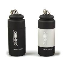 2x USB Mini LED Taschenlampe wiederaufladbar wasserdicht Anhänger Schwarz, Grau