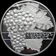 ARMENIA 1000 DRAM SILVER COIN PROOF 2007 Armenian Grapes