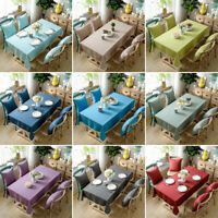 Home Tablecloth Square Rectangular Dining Table Cloth Cover Wedding Party Decor