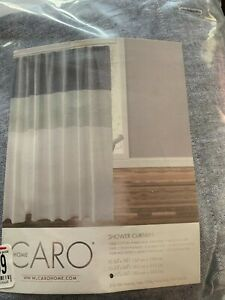 Caro Home Nora 72-Inch x 96-Inch Extra Long Shower Curtain in Navy