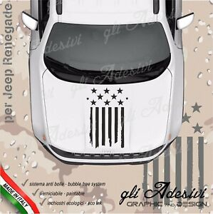 Adhesive For Jeep Renegade And Wrangler For Bonnet Flag USA Damaged