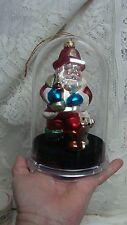 UNIQUE TREASURES Santa Fireman Christmas Ornament Blown Glass NIB