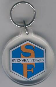 Table medal AD37 Swedish Finance Key Chain Ring diam 48mm