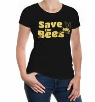 Damen Kurzarm Girlie T-Shirt Save the Bees Bienenschutz Imker Honig