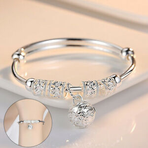 Women Girls Genuine 925 Sterling Silver Bracelet Bangle Boho Charm Jewelry Gift