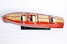"CHRIS CRAFT Boat 25"" (62cm long) Wood Yacht Model"