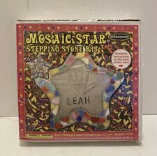 Milestones Real Stained Class Mosaic Stepping Stone Kit-Star - Factory Sealed
