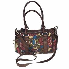 Fossil Maddox Satchel Canvas Floral