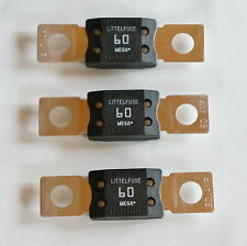 3 x EZGO E Z GO GOLF CART PART ELECTRIC 60 AMP BATTERY CHARGER RECEPTACLE FUSE