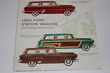 1953 Ford Station Wagons Factory Brochure, Original