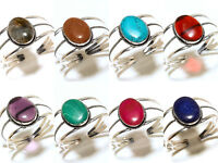 Bracelet Bangel Cuff Silver Plated Handmade Gemstone Jewellery Adjustable Isj7
