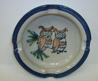 Louisville Art Pottery Stoneware Owls on Branch Ashtray
