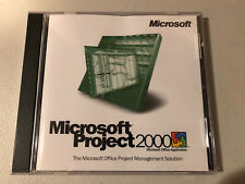 Microsoft Project 2000 SOFTWARE CD used Free Shipping