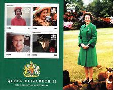 Liberia 2013 MNH Coronation Queen Elizabeth II 60th Anniv 4v M/S Royalty Stamps