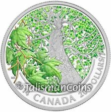 Canada 2014 $20 Pure Silver Maple Leaf Canopy Spring Splendour Color Proof SML