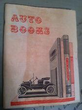 Auto Books Catalogue no.17 Mark Auto Company Layton, New Jersey store#1396