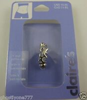 Body Jewelry belly button naval ring piercing body claire's crystal squiggle