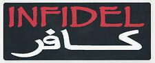 INFIDEL IN ARABIC - HELMET STICKER