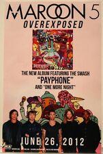 Maroon 5 Overexposed Original Promo Poster 11x17 2012 Adam Levine