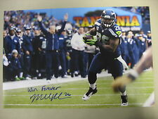 """Michael Robinson Seahawks Autograph 12x18 Photo W/ Insc """"Win Forever"""" SPH 0177"""