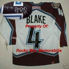 Colorado Avs and Hall Of Fame Member ROB BLAKE Signed Semi-Pro CCM Jersey