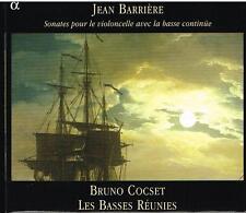 Jean Barriére: Sonate Per Violoncello / Bruno Cocset, Les Basses Réunies - CD